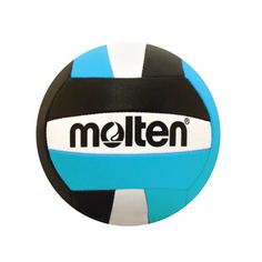 """MINI SOUVENIR VOLLEYBALL • Synthetic leather • Size: 5"""" diameter • Aqua/Black  