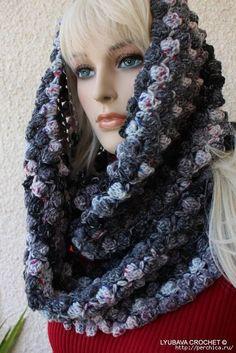 Delicadezas en crochet Gabriela: Bufanda capucha en ganchillo