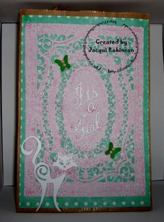 Bag for matching card Dragons Lair Designs O Baby Mine Kit Spellbinder dies Tattered Lace Cat