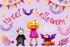 Sweet Halloween -20% OFF intro by Watercolor Nomads on @creativemarket