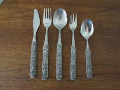 Konge Tinn Norwegian Pewter 5 Piece Place by SpringCollectibles