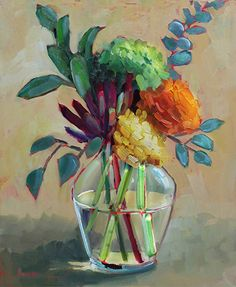 """Daily Paintworks - """"Beautiful Bunch"""" - Original Fine Art for Sale - © Martha Lever Still Life Art, Arte Floral, Acrylic Art, Beautiful Paintings, Painting Inspiration, Painting & Drawing, Amazing Art, Watercolor Paintings, Canvas Art"""