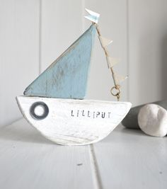 Custom made sailboat by Upcycle art creations