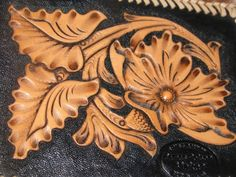 Hand Tooled Leather Wallet.