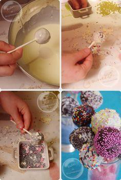 Cakes pops made by our children / Les cakes pops de nos pitchounes