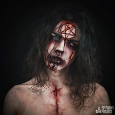 """812 Likes, 33 Comments - Angelina Lovelace (@angelinalovelace) on Instagram: """"Here's the second makeup look from my Halloween series, """"Marked by the Devil"""". I hope yall enjoy,…"""""""