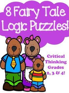 Fairy Tale Themed 8 Logic Puzzles For Beginners - Critical Thinking