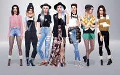 "simfame: "" Lookbook #7: Urban Outfitters Inspired Outfit #1 hair by…"