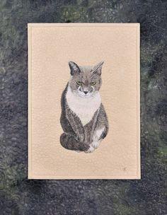 Timothy Tomcat by Olga Kuba | Thread Painting
