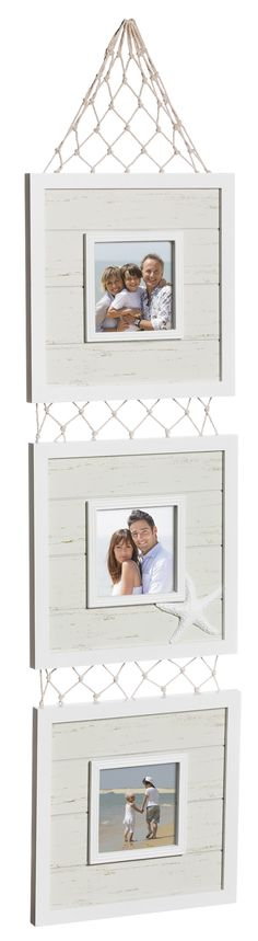 Coastal Holds Wooden Tiered Picture Frame