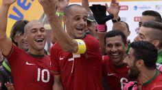 Portugal é campeão do mundo de futebol de praia.
