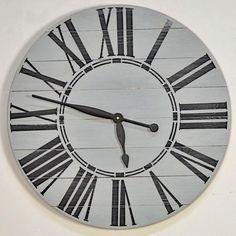 Oversized Gray Farmhouse Wall Clock X Grey (Wood) Home Decor Outlet, Cheap Home Decor, Oversized Clocks, Farmhouse Wall Clocks, Farmhouse Decor, Quartz Clock Movements, Clock Decor, Wall Decor, Room Decor