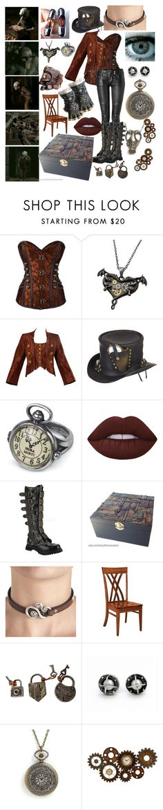 """""""gender bend Sober"""" by xenomorphs4life ❤ liked on Polyvore featuring Christian Lacroix, Balmain, Overland Sheepskin Co., Lime Crime, Demonia, DutchCrafters, Dot & Bo and GAS Jeans"""