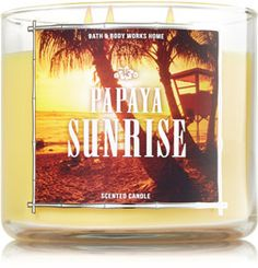Papaya Sunrise 3-Wick Candle - Home Fragrance 1037181 - Bath & Body Works