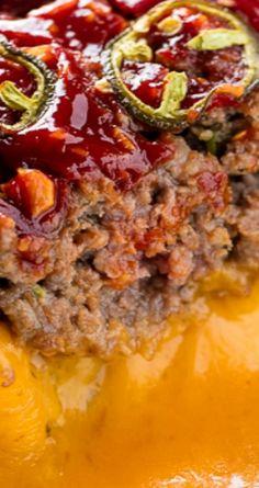 Jalapeno Cheddar Stuffed Meatloaf