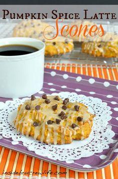 Pumpkin Spice Latte Scones Recipe on Yummly