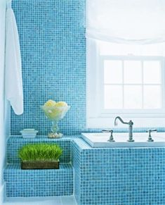white and blue bathroom colors and nautical decor theme