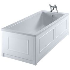 Burlington Arundel Bath with Side/End Panel and Corner Posts - White at Victorian Plumbing UK