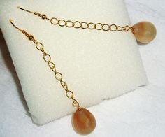 Carnelian drop style Earrings handmade jewelry gift idea