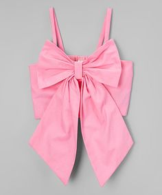 Look what I found on #zulily! Pink Bow Tank - Infant, Toddler & Girls #zulilyfinds
