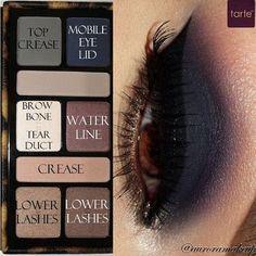 Tarte Palette - dark grey smoky eye