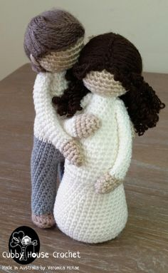 PACKAGE DEAL 3 Patterns for Discounted price Mother to be EVE She is clothed in strength and dignity, and she laughs without fear of the future proverbs Mother EVE nursing newborn JAMIE Father ADAM The righteous man walks in his integrity: H Knitted Dolls, Crochet Dolls, Knit Crochet, Amigurumi Patterns, Amigurumi Doll, Share Pictures, Thick Yarn, She Is Clothed
