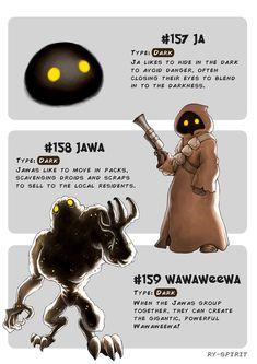Pokemon evolution of Java Oc Pokemon, Pokemon Memes, Pokemon Funny, Pokemon Fusion, Pokemon Craft, Disney Pixar, Disney Art, Pokemon Crossover, Star Wars Personajes
