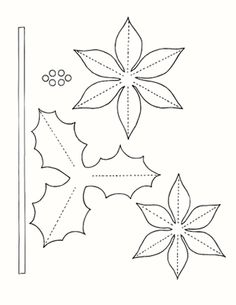 Poinsettia And Holly Pattern