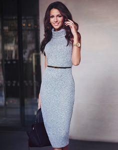Michelle Keegan Cowl Neck Sleeveless Dress