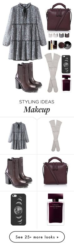 """winter florals"" by bechs on Polyvore featuring Luv Aj, Free People, Narciso Rodriguez, Casetify, Chanel, women's clothing, women's fashion, women, female and woman"