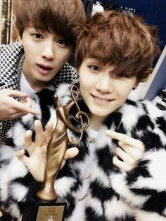 jin + suga BTS Suga please always keep your hair like this. T^T