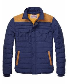 Quilted Shirt Jacket In Mixed Qualities > Mens Clothing > Jackets at Scotch & Soda - Official Scotch & Soda Online Fashion & Apparel Shops