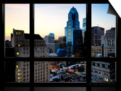 Window View, Special Series, Skyscrapers View at Nightfall, Philadelphia, Pennsylvania, USA Prints by Philippe Hugonnard at AllPosters.com