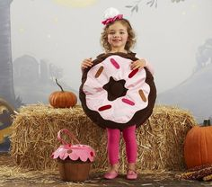Doughnut costume cuteness if ever there was! :) #kids #costume #doughnut #donut #Halloween #cute #food #fall #autumn