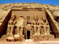 Tours to Abu Simbel Temples; It is generally considered the grandest and most beautiful of the temples commissioned during the reign of Rameses II built in the 13th century BC. #Egypt #Aswan #Abusimbel #Travel #Tours #Holidays