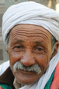 Bedouin man, Bedouin camp on the edge of the Sahara (near Douz), Tunisia
