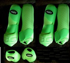 Tough 1 Extreme Vented Sports Medicine Splint Boots Horse Lime Front & Rear Bell