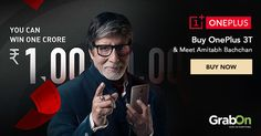 Your magical chance to meet One Plus 3t, Amitabh Bachchan, Mobile Phones, Buy Now, Meet, India, Goa India, Indie, Indian