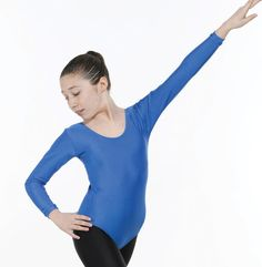 Long Sleeved Plain Front #Leotard £13.99