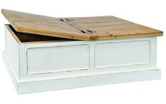 Knockout Living Room Furniture Amusing White Solid Pine Storage Coffee Table With Storage