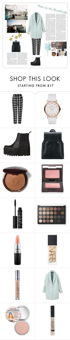 """""""Date on the Boardwalk"""" by silly-stegosaurus ❤ liked on Polyvore featuring Topshop, Marc Jacobs, Windsor Smith, La Vie en Rose, Bobbi Brown Cosmetics, Laura Mercier, NARS Cosmetics, MAC Cosmetics, Urban Decay and TheBalm"""