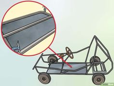 How to Create a Go Kart with a Lawnmower Engine. Though go-karts traditionally use horizontal mount engines, with a little modification, you can install a vertical shaft lawnmower engine to be the driving force behind your homemade racing. Drift Trike Wheels, Kids Go Cart, Go Kart Designs, Go Kart Kits, Go Kart Frame, Go Kart Racing, Auto Racing, Go Kart Plans, Lawn Mower Repair
