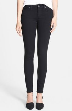 Paige Denim Paige Denim 'Transcend - Verdugo' Ultra Skinny Jeans (Black Shadow) available at #Nordstrom