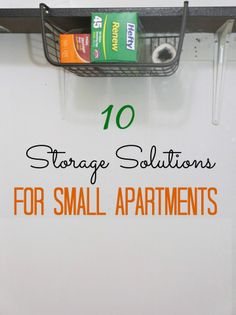 10 storage & organization solutions for small apartments. Make the most of your space! #apartment #storage #organization