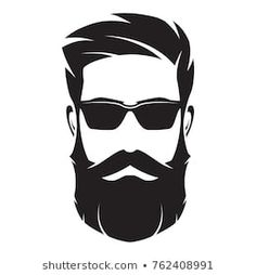 Bearded man s face hipster character fashion Vector Image # Beard Silhouette, Fashion Silhouette, Barber Logo, Barber Shop, Hair Clipart, Beard Logo, Beard Art, Hipster Drawings, Barbershop Design