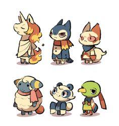Pokemon x Animal Crossing Villagers. this sooo needs to happen. Pokemon Memes, All Pokemon, Pokemon Fan Art, Cute Pokemon, Game Character, Character Design, Animal Crossing Villagers, Acnl Villagers, Animal Crossing Characters