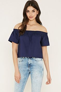 ¡Cómpralo ya!. Off-the-Shoulder Top. details   This crepe woven top features an elasticized off-the shoulder neckline with short sleeves.  Content + Care   - 73% cotton, 24% polyester, 3% spandex- Hand wash cold- Made in Indonesia  Size + Fit  - Model is 5'10%22 and wearing a Small- Full length: 14%22- Chest: 35%22- Waist: 38%22- Sleeve length: 6.5%22 , tophombrosdescubiertos, sinhombros, offshoulders, offtheshoulder, coldshoulder, off-the-shouldertop, schulterfreiestop…