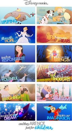 Disney movies <3 this is what I should show to the people who don't like Disney movies... ;p