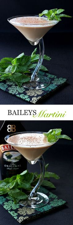 Baileys Martinis are the ultimate cocktail for St. Patrick's Day!