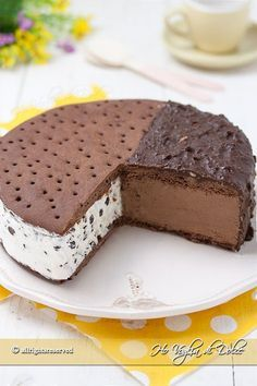 cake and recipes Frozen Desserts, Sweet Desserts, Sweet Recipes, Pistachio Gelato, Torte Cake, Cooking Cake, Summer Cakes, Italian Desserts, Ice Cream Recipes